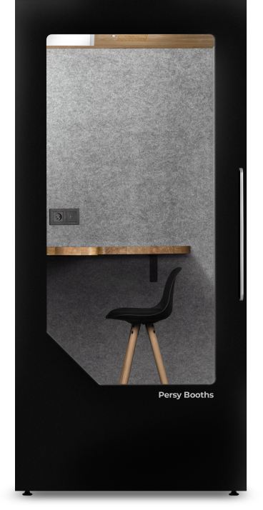 office phone booth black