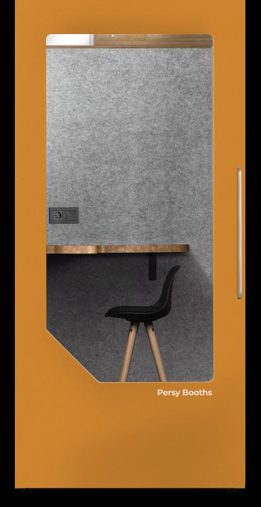 office phone booth orange