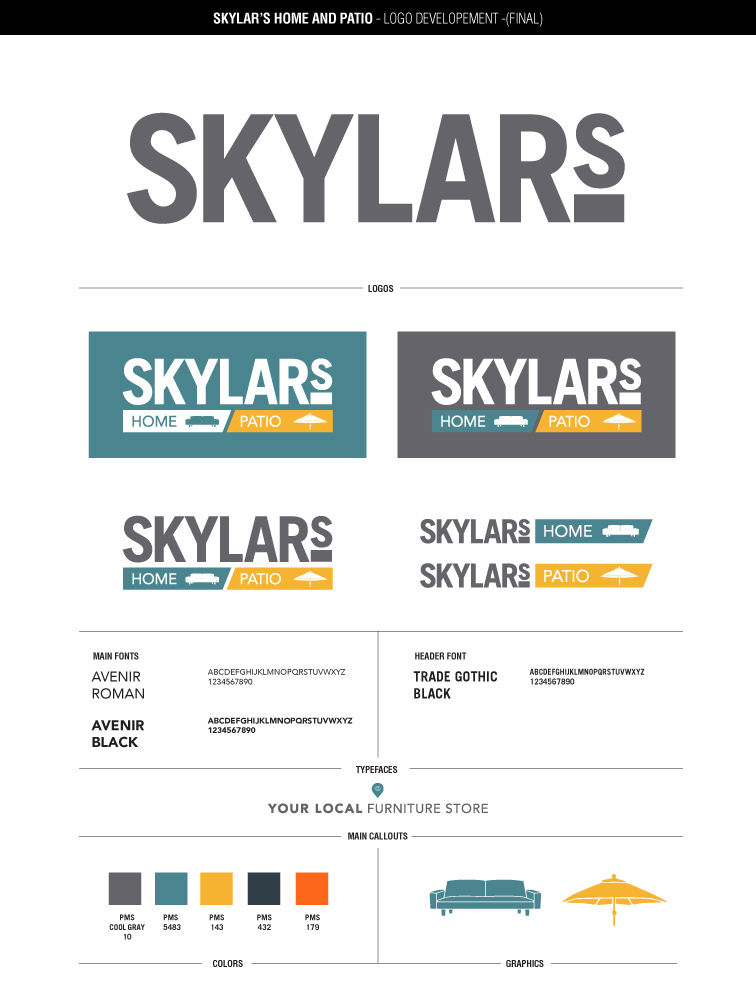 Skylar's final logo and Style Guide