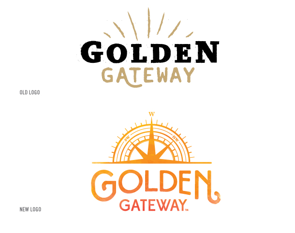 Golden Gateway's old and new logo