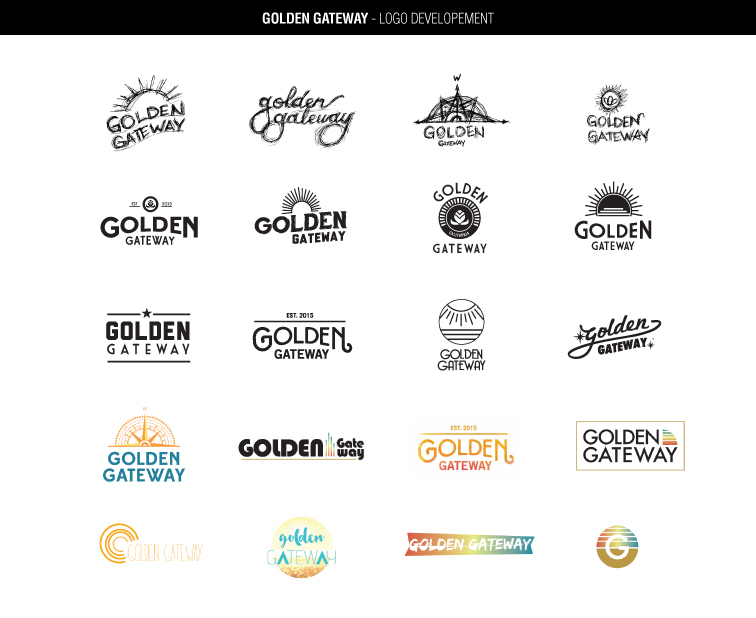Golden Gateway's logo development