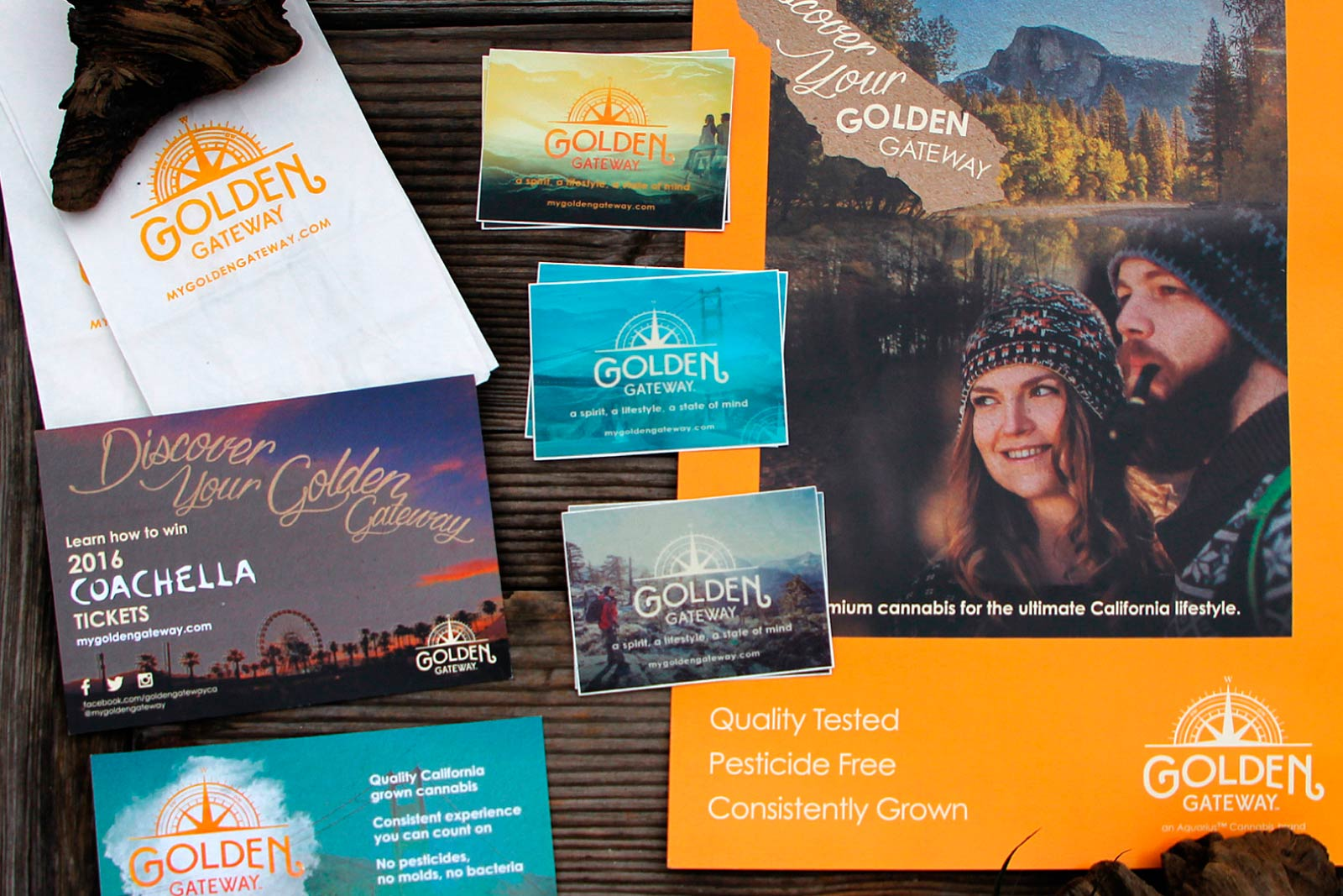 Golden Gateway's printed marketing collateral