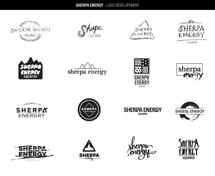 Sherpa Energy Squares' logo development