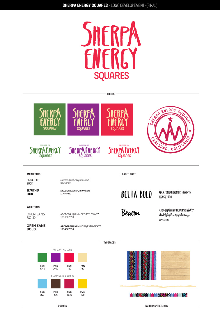 Sherpa Energy Squares' style guide