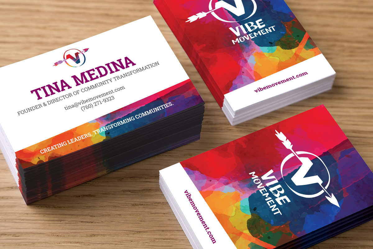 The Vibe Movement's custom business cards