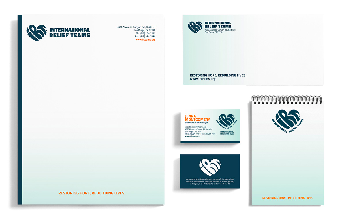 IRT's stationary and business cards