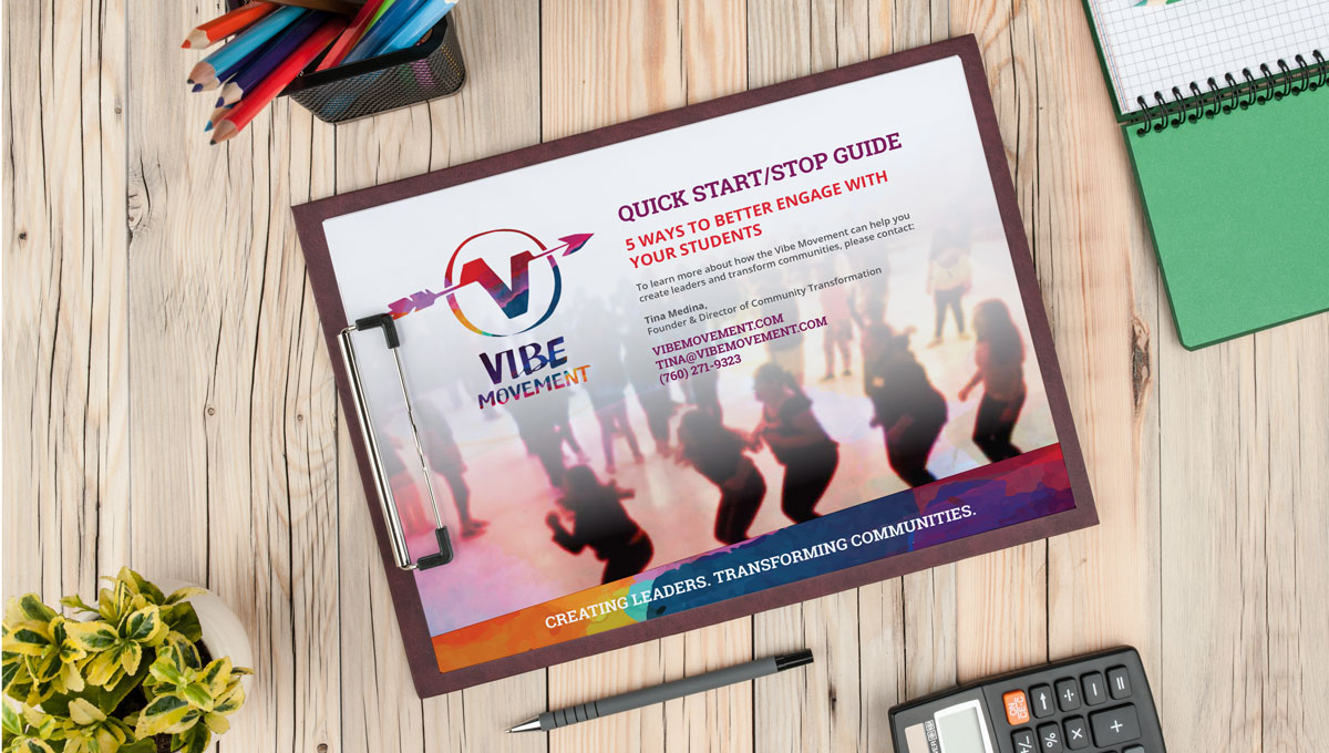 The Vibe Movement's free downloadable worksheet