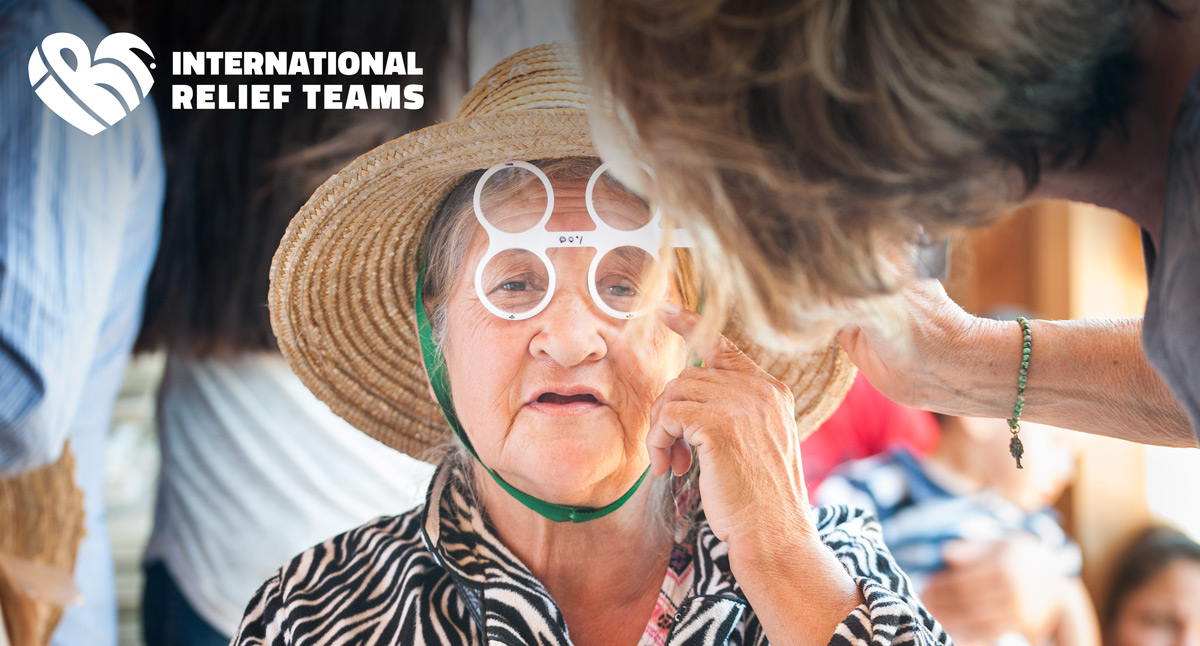 IRT's on site team providing optometry support
