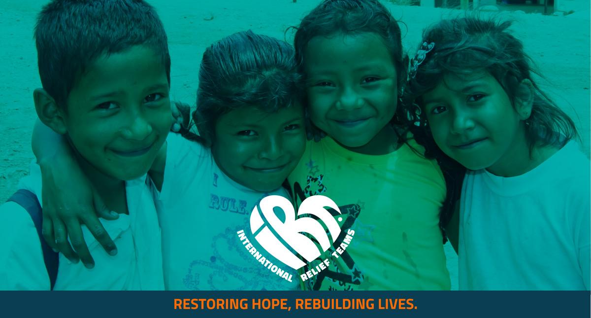 """IRT's tag line of """"Restoring hope, rebuilding lives"""""""