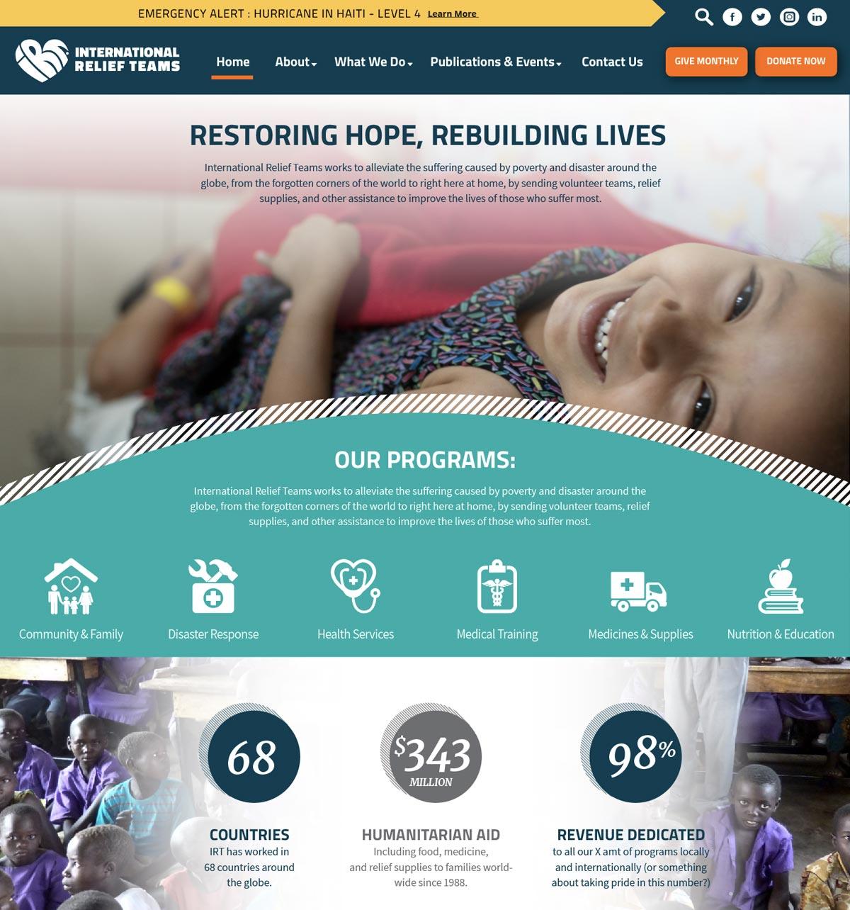 IRT's new site