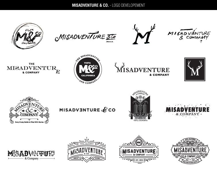 Misadventure and Company's logo development
