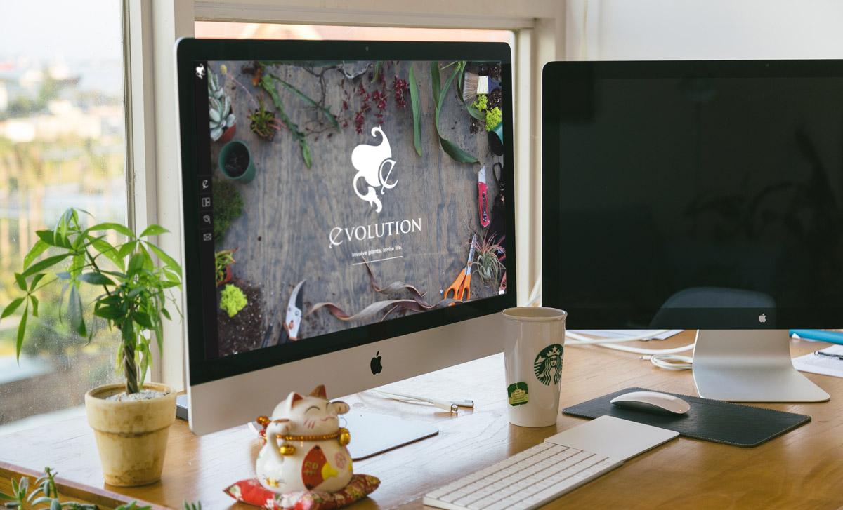 Evolution Plants' custom website.