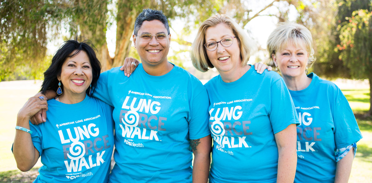 A group of awesome women who survived lung cancer.