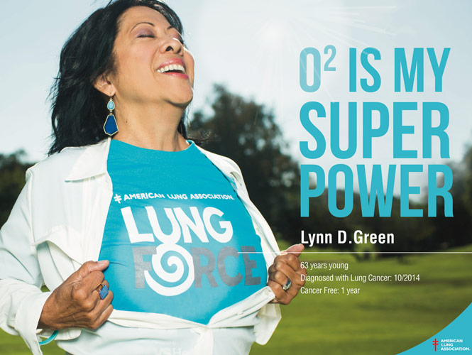 Oxygen is my super power - Lynn D. Green, Lung Cancer Survivor