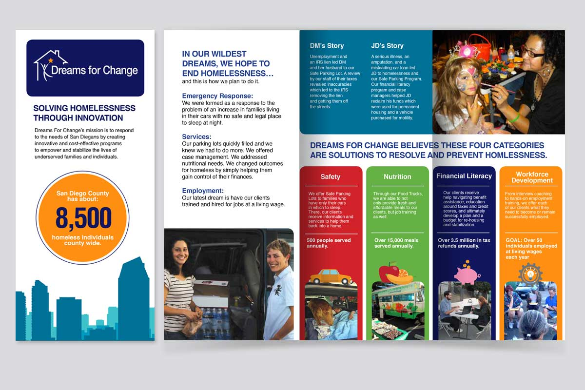 Dreams for change informative brochure