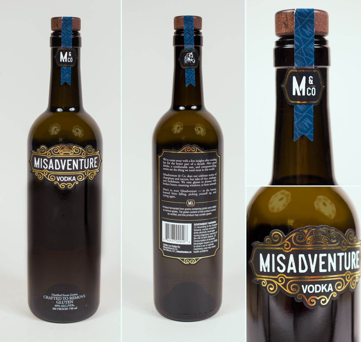 Misadventure and Company's vodka bottle