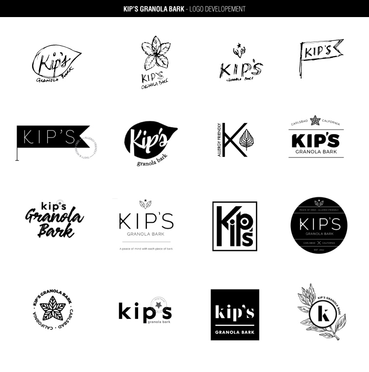Kip's logo development