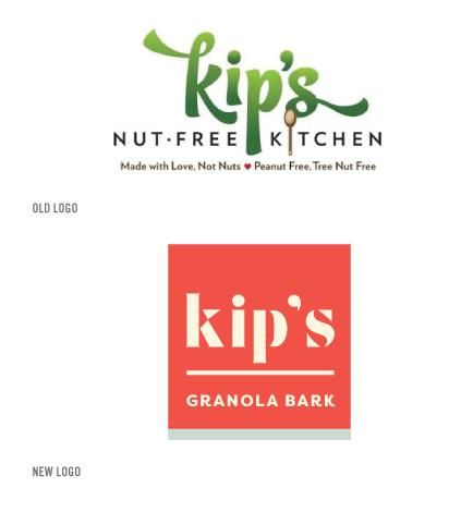 Kip's old logo and new logo