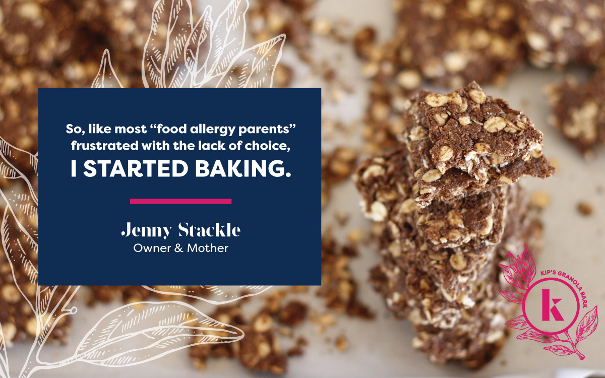 """So, like most 'food allergy parents' frustrated with the lack of choice, I started baking."" - Jenny Stackle, Owner and Mother"