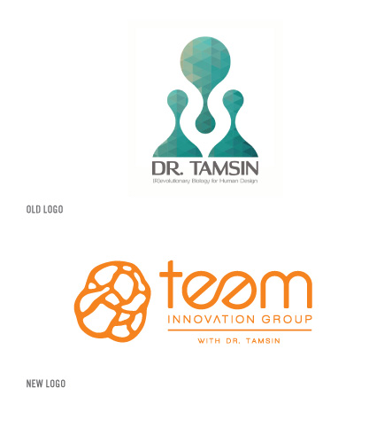 Teem Innovation Group old logo and new logo