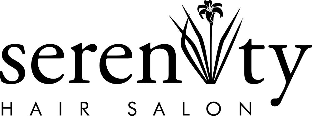 Serenity Hair Salon black logo