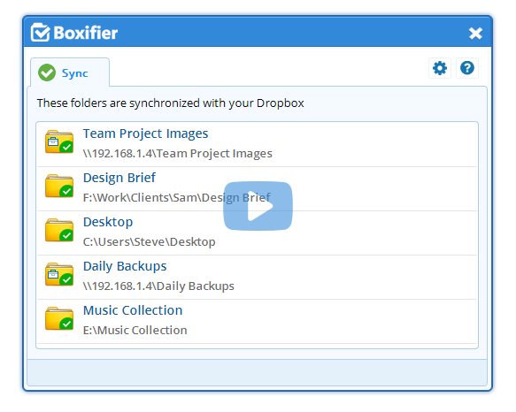 Boxifier - Sync and backup any folder to Dropbox