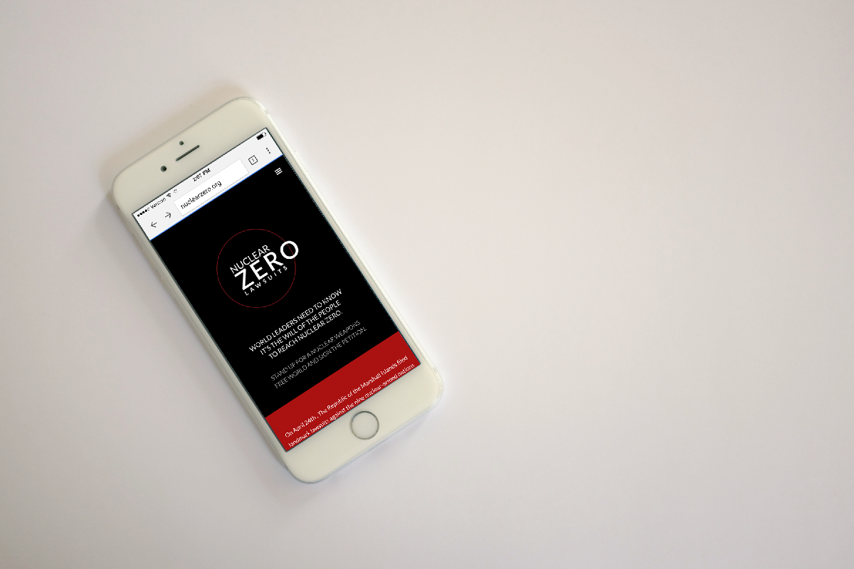 Photo of mobile website