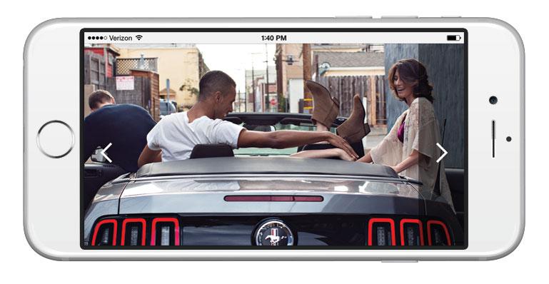 Responsive mobile screenshot