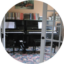 Side-by-Side Pianos in the Chris Vitt Piano Studio