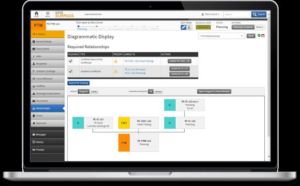 SageSURPASS Diagrammatic Display