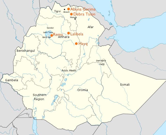 Ethiopian Heritage Fund - Map image