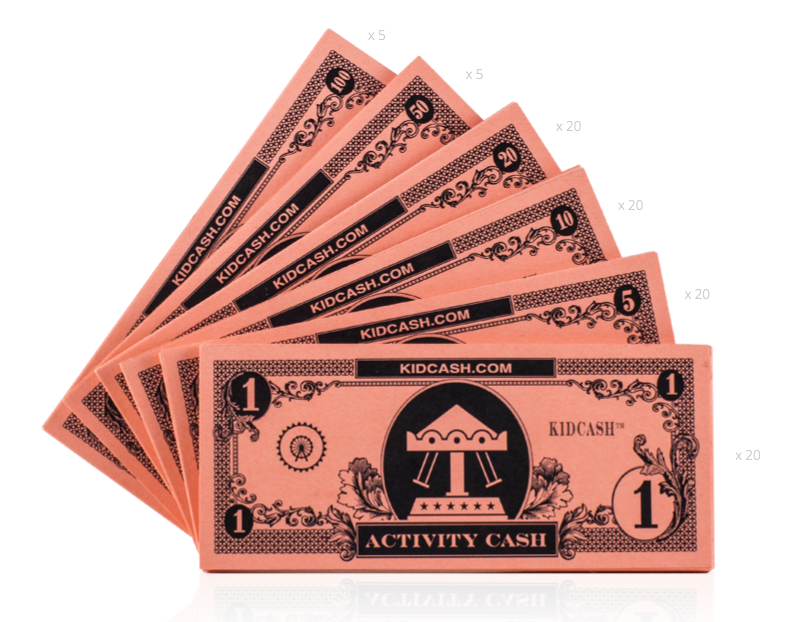Activity Cash Teach kids money, focus, discipline and more with Kid Cash