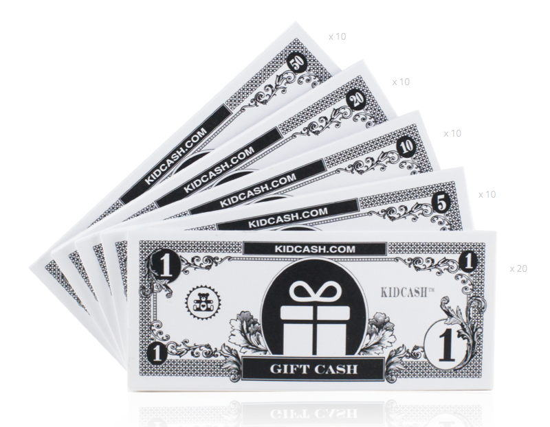Gift Cash - Teach kids money, focus, discipline and more with Kid Cash
