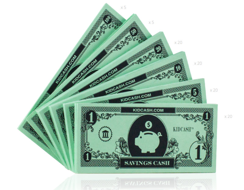 Savings Cash - Teach kids money, focus, discipline and more with Kid Cash