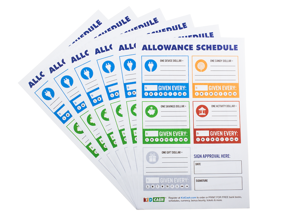 Allowance Schedules - Teach kids money, focus, discipline and more with Kid Cash