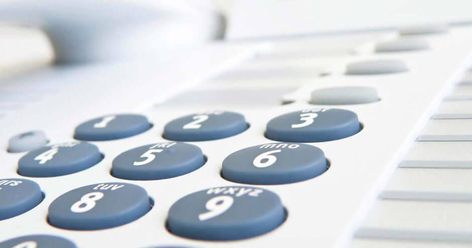 imagem da tecla de um telefone tradicional