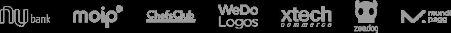 Logos clientes Atende Simples com número 0800