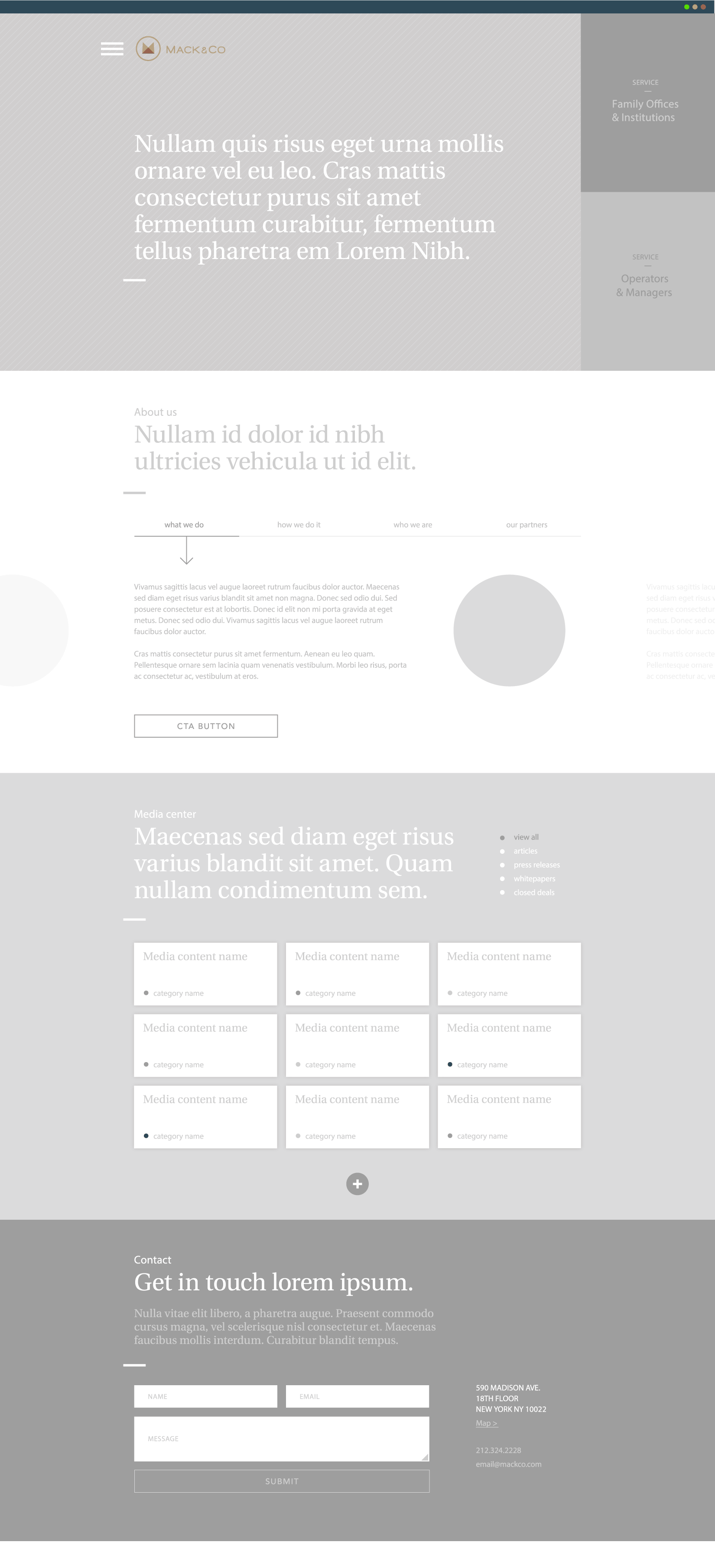 mack & co wireframe