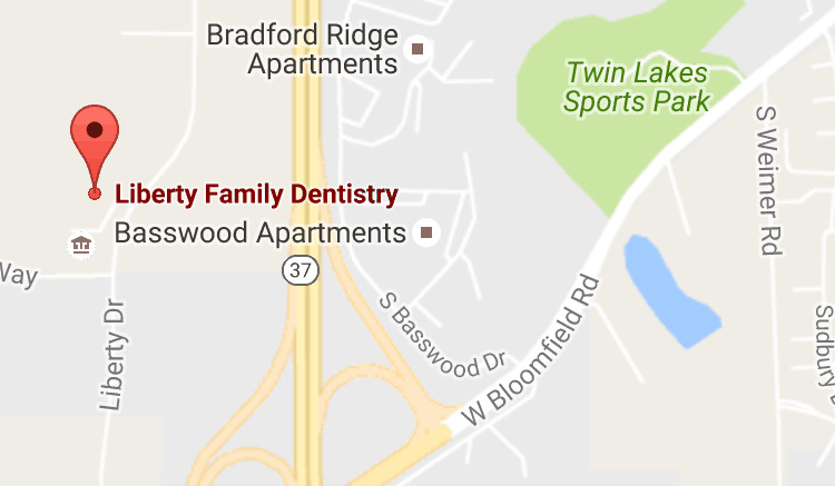 Map to Liberty Family Dentistry