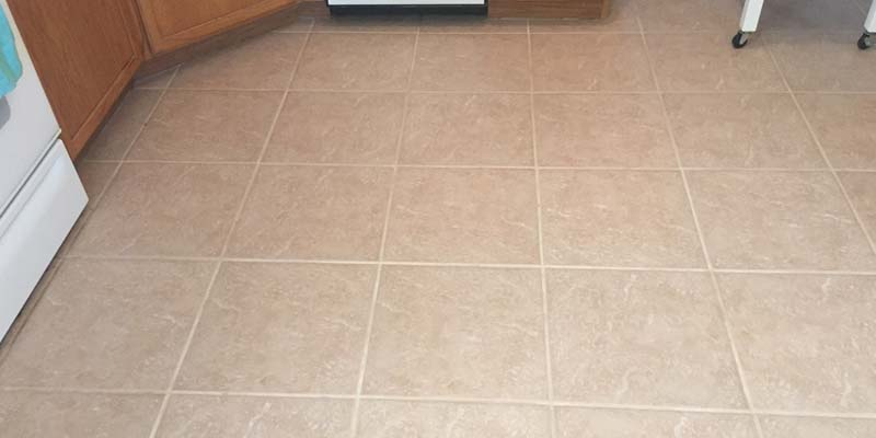after grout cleaning