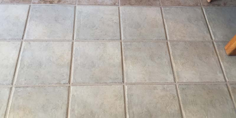 old grout color sealing
