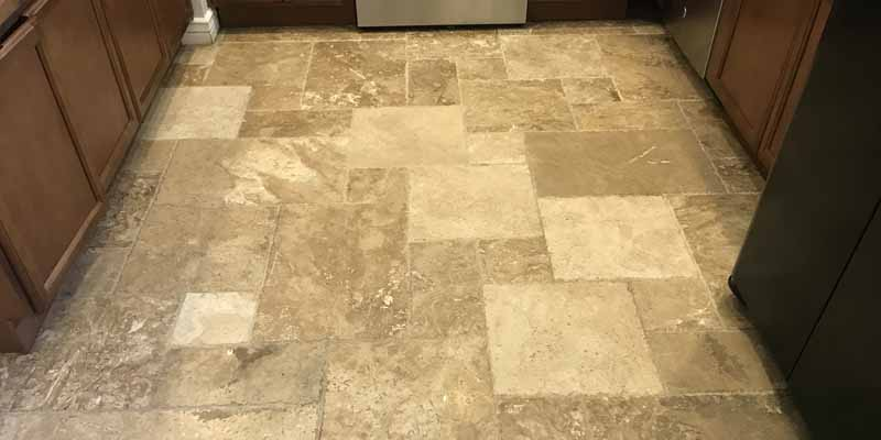 Tumble Travertine Tile Cleaning