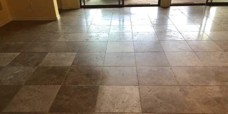 Travertine Polished to a Satin Finish Before