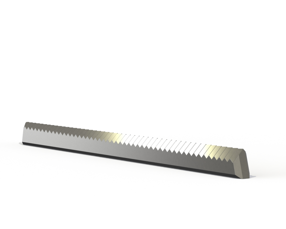 Photo of zigzag knife