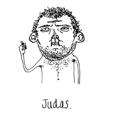 Judas Illustration by Mychal Handley