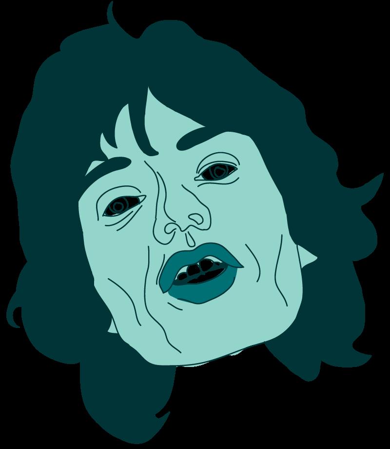 Mick Jagger Floating Head - Mychal Handley