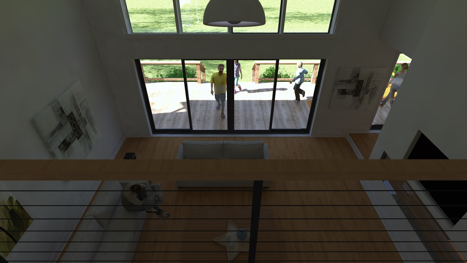 3D Rendering of a New Home Design for a Home on Joelton Road
