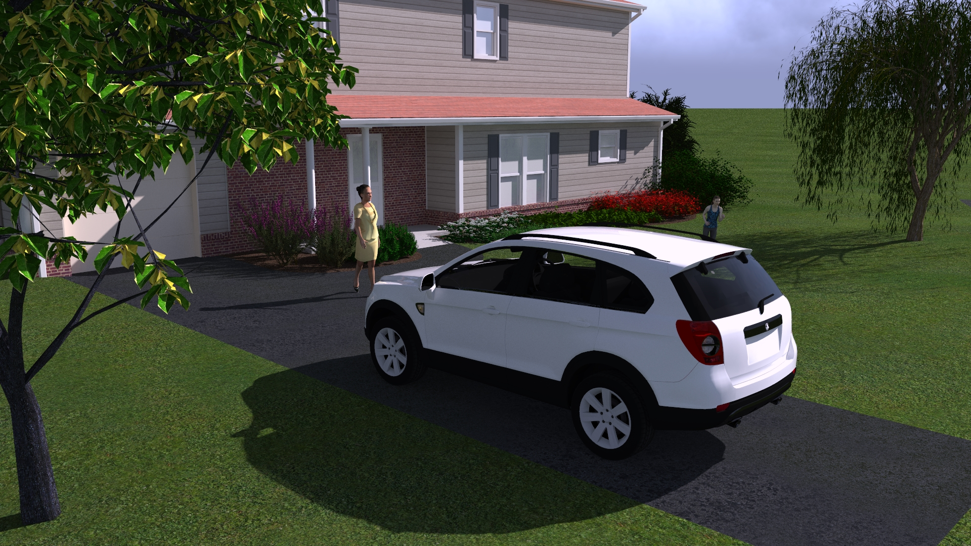 3D Rendering of an Addition and Renovation Design of a Home on Ridgemont Place