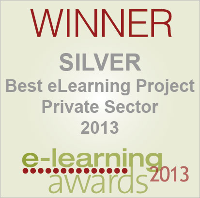 eLearning Awards 2013 Silver Logo