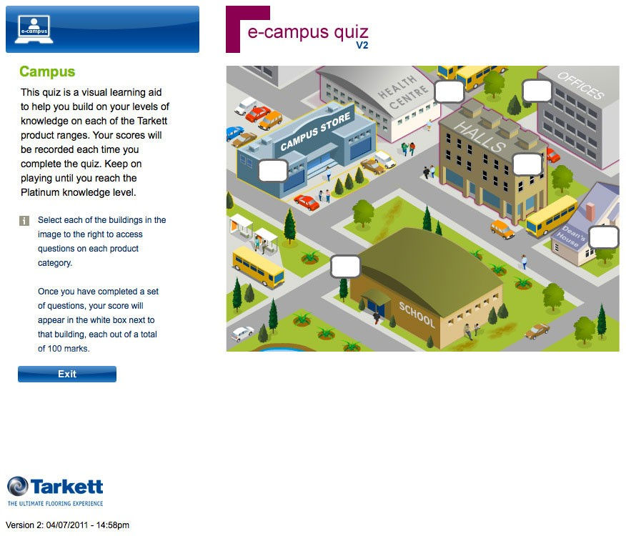 Image of Tarkett eCampus quiz